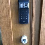 2ロックドアに電池錠(ES-F300D)を取付しました。 施工画像